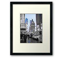 New York in Blue Framed Print