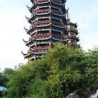 Sun and Moon Pagodas - Guilin, China by BattleNun