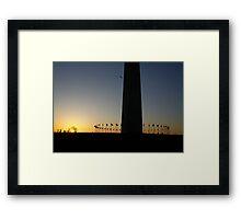 Sunset at Washington Monument Framed Print