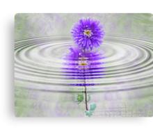 Purple Ripple Canvas Print