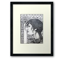 Waiting For News Framed Print