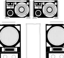 radio robot Sticker