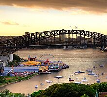 Point To Point - Sydney Harbour , Sydney Australia (HDR Panoramic) - The HDR Experience by Philip Johnson