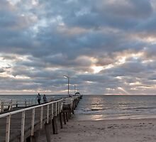 Henley Beach as the sun sets by burrster
