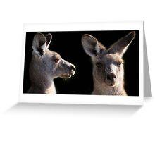 Kangaroo Profile Greeting Card