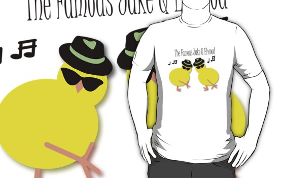 Elwood and Jake tee design by patjila