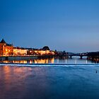 Prague at Night by Nicholas Jermy