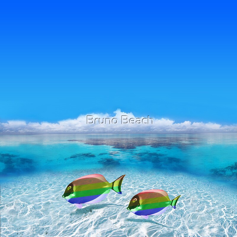 Tropical Island Wallpaper With Fish Tropical Island Fish Wallpaper