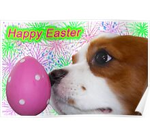 Happy Easter ~ Cavalier King Charles Spaniels Poster