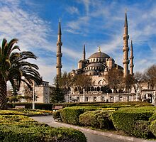 Sultan Ahmed or Blue Mosque in Istanbul Turkey by InterfaceImages