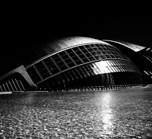 City of Arts and Science, Valencia, Spain.  B/W by Berns
