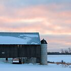 Twilight at Fertiges Barn by Geno Rugh