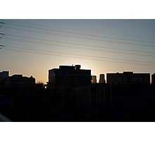 Sunset From The Queen Street Bridge Photographic Print