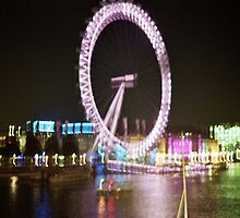 The London Eye at Night by Thomas Martin
