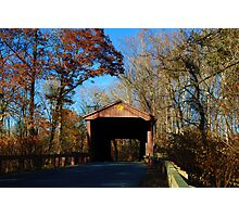 Covered Bridge - Jerusalem Mill in Maryland Photographic Print