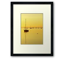 Early Morning Yellow Glow Framed Print