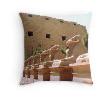 Karnak Temple Throw Pillow