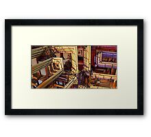 blocks of networking Framed Print