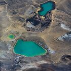 Emerald lakes, Tongariro National Park, North Island, New Zealand by bdimages