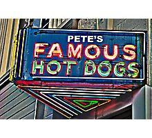 Pete's Famous Hot Dogs, Birmingham, Alabama Photographic Print