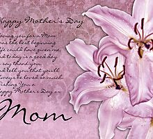 Mom Mother's Day Card - Modern - Lillies  by Moonlake