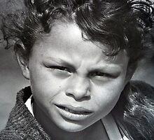 French Gypsy Girl Portrait by Sue Nichol