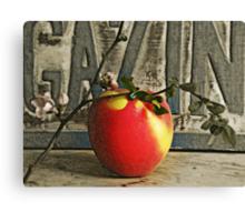 A=apple Canvas Print