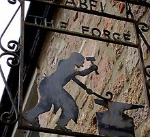 Forge sign, Moretonhampstead, Devon, UK by buttonpresser