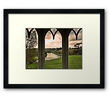 Lake view from Gothic Temple Framed Print