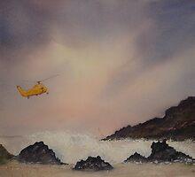 Sea Patrol Cornwall Coast, storm brewing by Neil Jones