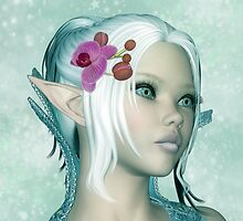 Tamara - Elven Princess Of Inspiration Blank Card by Moonlake