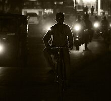 Cycling Through the Night by lamiel