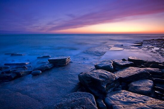 Wales: Southern Down After Glow by Angie Latham