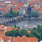Charles Bridge From Afar by sceneryphotosto
