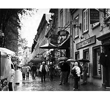 Walking in the Rain ~ Black & White Photographic Print