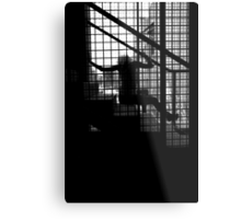 Caged Silhouette Metal Print