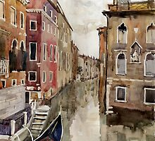Venice canal by Julia Shepeleva