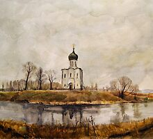 Church of the Intercession on the Nerl by Julia Shepeleva