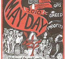 Victorian May Day Poster 2010 by Gary Shaw