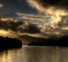 Lough Leanne Sunset by Mark Lyons
