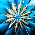 Blue Glass Flower by Nasko .