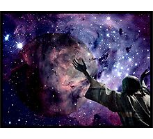 In the beginning God created the heavens and the earth. Photographic Print