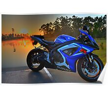 Gsxr At Sunrise Poster