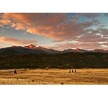 First Light On Longs Photographic Print