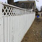 H vs. V white picket fence by nhornsveld