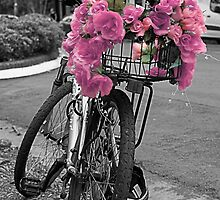 Pink flower basket by PenelopeLawry