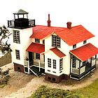 &quot;Old Point San Luis Lighthouse - Scale Model&quot; by waddleudo