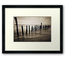 Wooden Poles - Landscape Framed Print