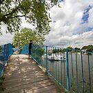 The Bridge at Walton Marina by Rachael Talibart