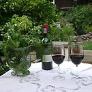 Wine tasting in the Garden ~ by chrissy mitchell